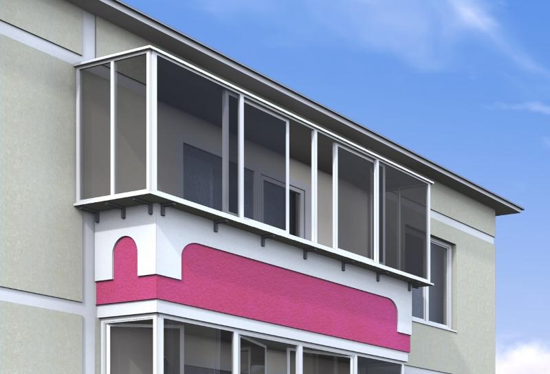 """Раздвижной балкон """" алюминиевые конструкции."""