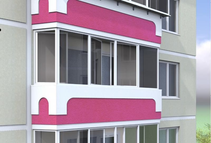 """Распашной балкон """" алюминиевые конструкции."""